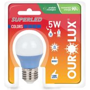 Lampada-Superled-Ourolux-S30-Color-E27-Azul-5W