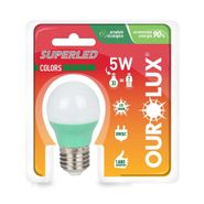 Lampada-Superled-Ourolux-S30-Color-E27-Verde-5W