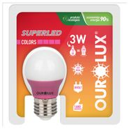 Lampada-Superled-Ourolux-S30-Color-E27-Rosa-5W